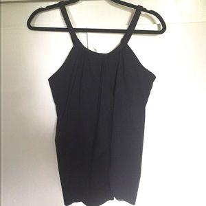 LANDSEND Black high neck tankini top bathing suit